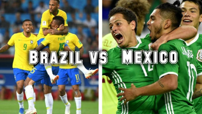 Brazil vs Mexico vòng 1/8 World Cup 2018