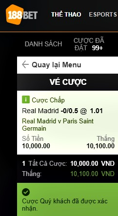 Kèo C1 trận Real Madrid vs PSG